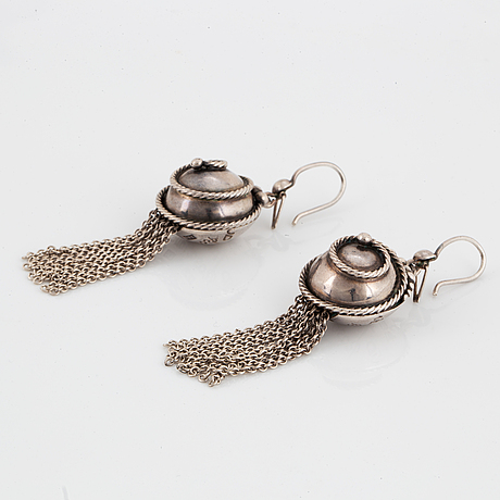 Rosa taikon, bernd janusch, earrings, sterlingsilver.