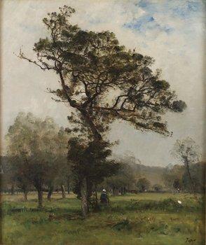 9. LOUIS AIMÉ JAPY, Pastoralt landskap.