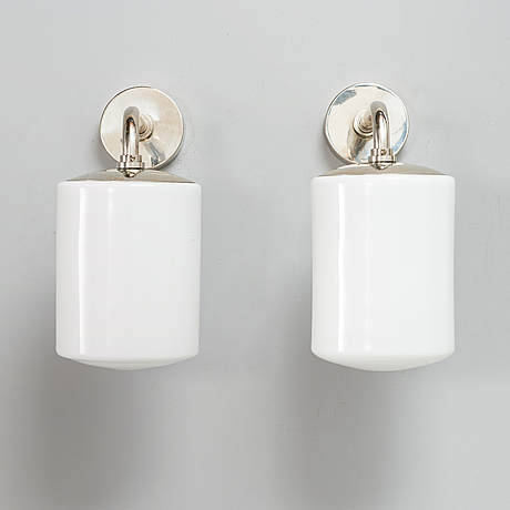 Paavo tynell, a pair of mid-20th-century '7239' wall lights for taito.