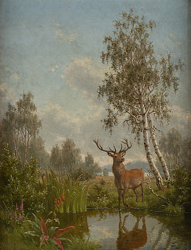 Carl bögh, oil on canvas, signed.