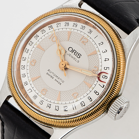 Oris, big crown pointer date, wristwatch, 32 mm.