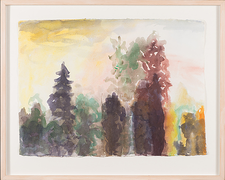 Marjukka paunila, water colour, signed and dated -05.