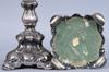 Ljusstakar, ett par, silver, barockstil, c.g.h, stockholm, 1938.