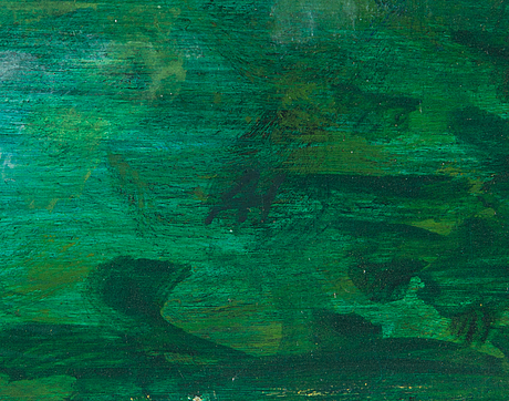 Anne hakala, tempera on canvas, a tergo signed and dated -07.