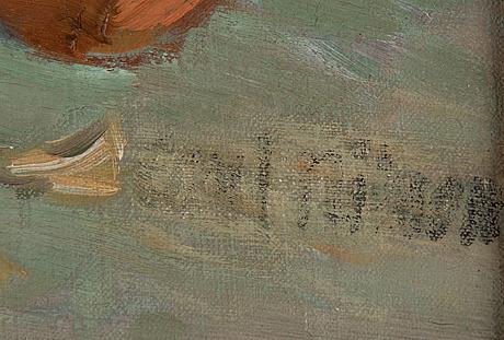 Axel nilsson, olja på duk, signerad axel nilsson.