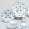 A set of 21 pieces royal copenhagen blue fluted half-lace porcelain.