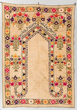 An old signed Suzani Embrodery, ca 149 x 106 cm.