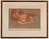 Aristide maillol, lithograph in colours, signed 16/75.