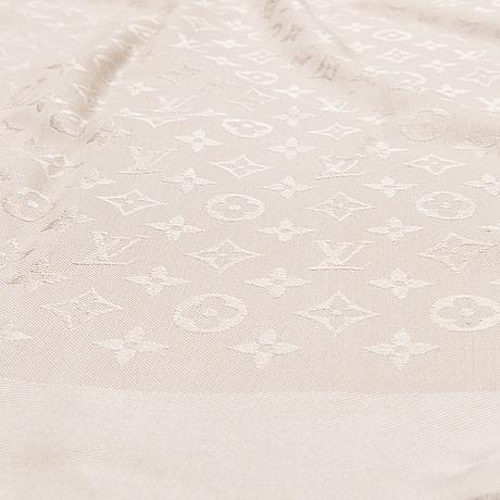 Louis vuitton monogram shine scarf.