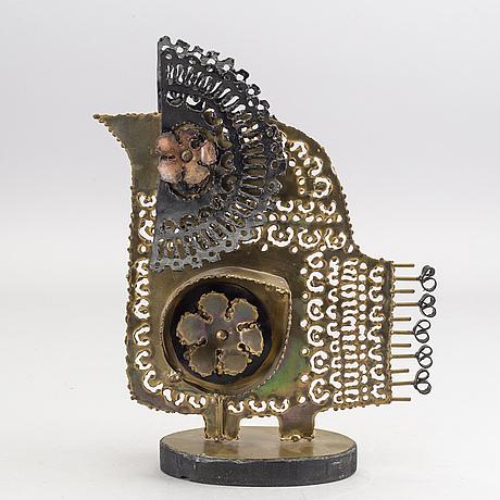 OkÄnd konstnÄr, skulptur, metall. 1960-tal.