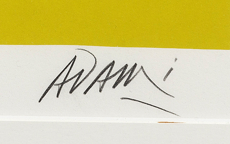 Valerio adami, lithograph, signed and numbered 77/200.