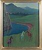 Kaapo rissala, olja på pannå, signerad och daterad 1955.