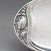 Georg jensen, a sterling silver 'blossom' serving dish, design nr. 2d. copenhagen mid-20th century.