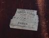 Brevschatull, etikettmärkt paris, sent 1800-tal.