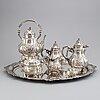 A silver tea- and coffee set, mark of jean l. schlingloff, hanau, (7 pc).