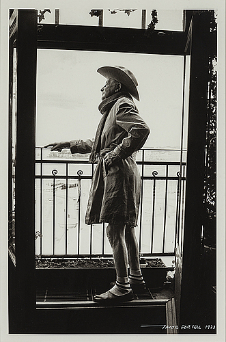 Jacob forsell, photograph, signed and dated 1973.