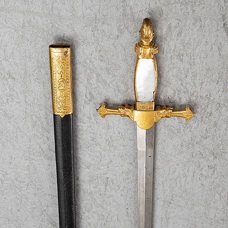 A 19th century  small sword.
