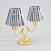 Josef frank, a model 2483 brass table lamp, for firma svenskt tenn.