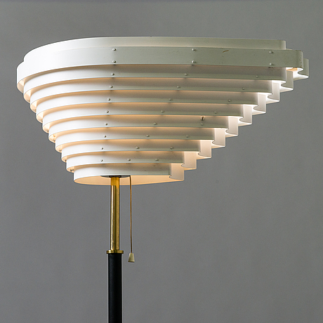 Alvar aalto angel wing model a 805 floor light manufactured by valaisinpaja oy, end of 20th century.