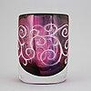Olle alberius, an 'ariel' glass vase, orrefors.