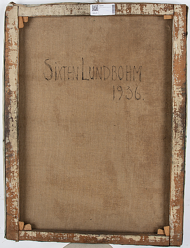 Sixten lundbohm, oil on canvas, signed. dated 1936 verso.