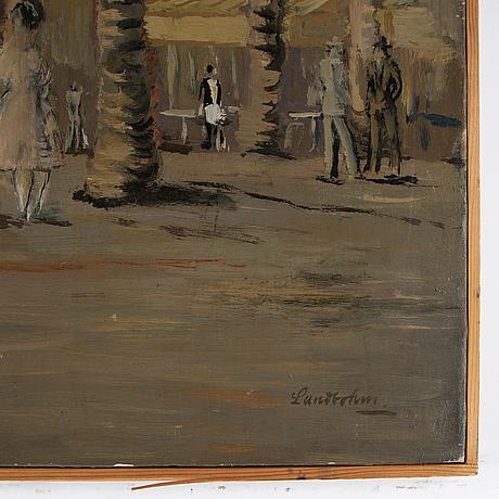 Sixten lundbohm, oil on canvas, signed.