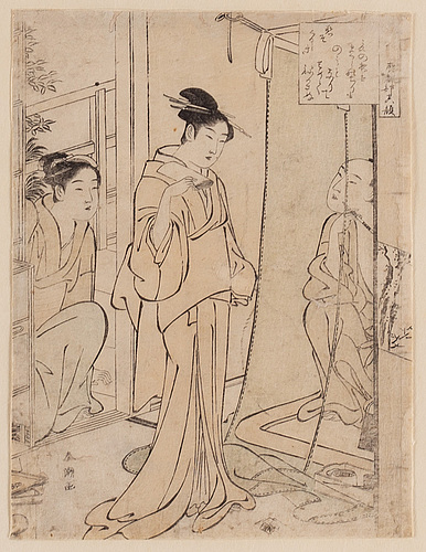 A japanese woodblock print, 19th century.