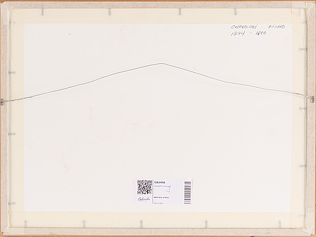 Chokosai eisho, after, a coloured woodblock print, japan, signed.