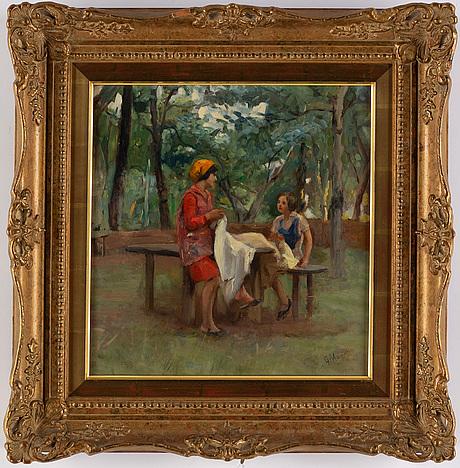 Giuseppe magni, oil on panel, signed.