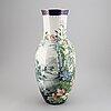 Peder mÖller (active 1886-1902), a earthenware floor vase, gustavsberg.