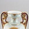 A massive earthenware floor vase, gustavsberg, 1885.