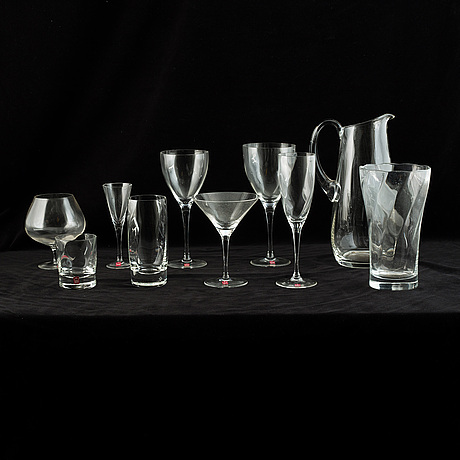 "A bohemian chrystal ""christineholm"" glass service. (94 pieces)."