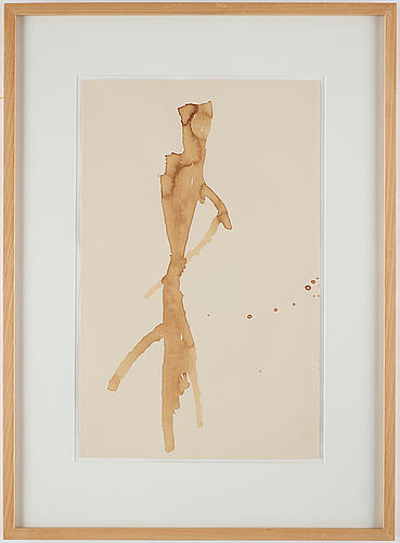 James brown, drawing signed and dated 1988 on verso.