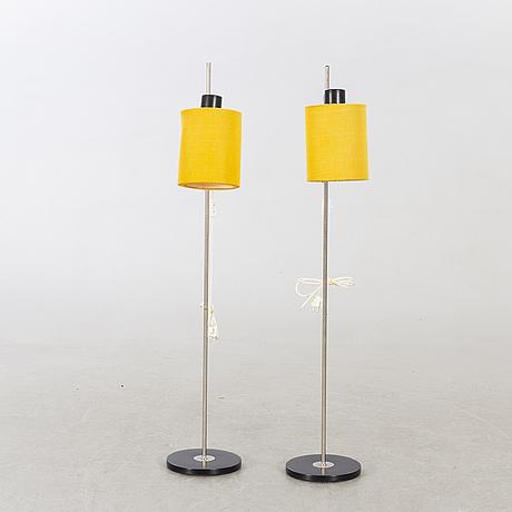 Golvlampor, ett par, 1970-tal.