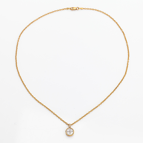 Halsband, 18k guld, diamanter ca 0.94 ct tot.