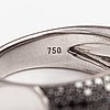 An 18k white gold ring with black diamonds ca. 1.70 ct in total.