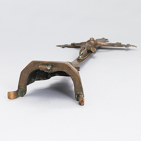 Krucifix, brons, troligen 1600-tal.