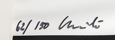 Christo & jeanne-claude, silkscreen på mylar, signerad och numrerad 62/150.