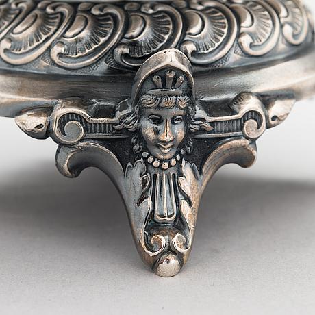 Makeiskulho, hopeaa, teodor werner & son, tarkastuslmestarinleima anton richter, astrahan, vuosisadan vaihde 1900.