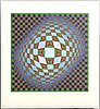 Victor vasarely, colourserigraph 'vilag', 1975, signed and numbered 26/275.