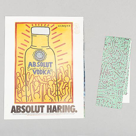 Keith haring, bok utgiven av tony shafrazi gallery.