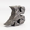 An signed and numbered bronze sculpture '23' by carl fredrik reuterswärd.