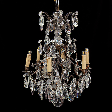 An early 20th century rococo style chandelier.