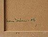 Hans isaksson, pannå, metallskål, tre st tändsticksaskar, signerad och daterad -02.