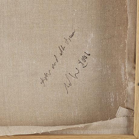 Axel geis, olja på duk, signerad och daterad 2006 a tergo.