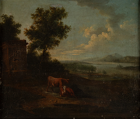 German school, circa 1800, oil on canvas, a pair.