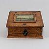 An 18th century oak box.