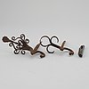 Two steel hooks and a pipe cleaner, 18th century.