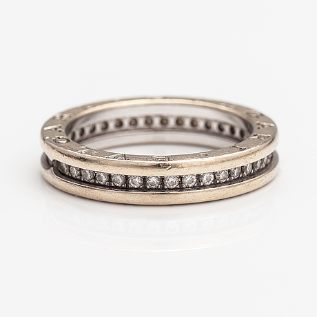 """Bulgari, an 18k white gold ring """"b zero1"""" with diamonds ca. 0.38 ct in total. marked made in italy."""