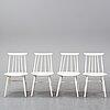 Ilmari tapiovaara, a set of 4 'fanett' chairs.